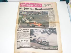 MOTORING NEWS 1981 May 21 Belgian GP, Welsh Rally, Brands, Mondello